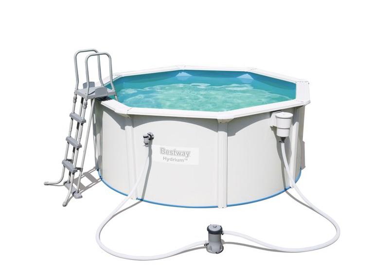 Detachable Round Steel Pool Bestway Hydrium With Scrubber
