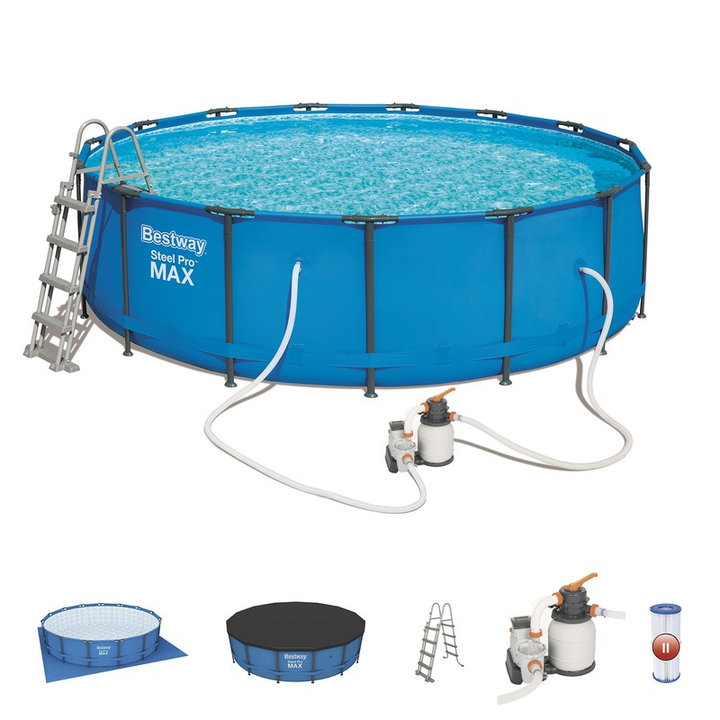 Bestway Steel Pro Max Round Tubular Detachable Pool With