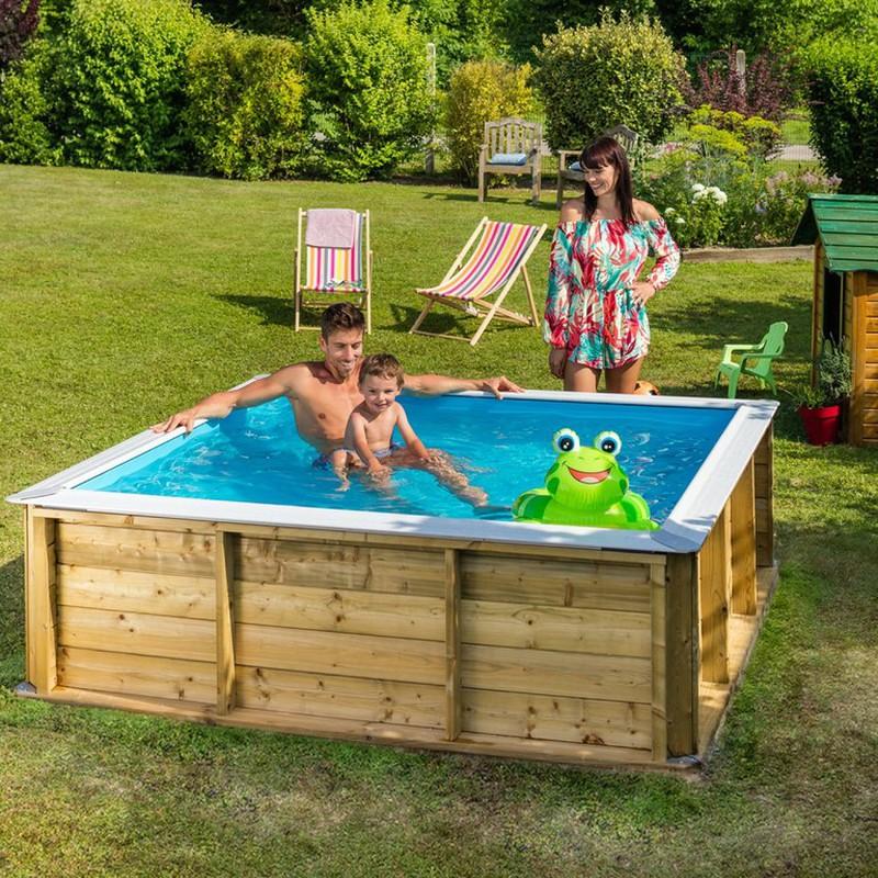 Piscine Pour Enfants En Bois Pistoche 2x2 M Poolfunstore