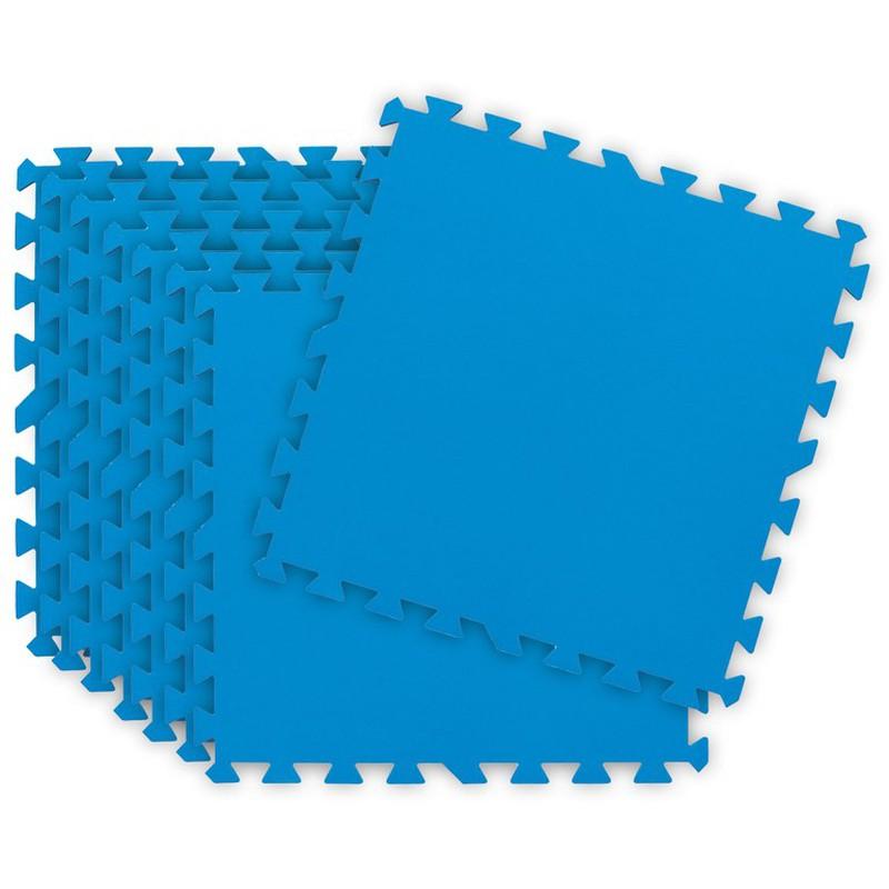 Bleu 50 x 50 cm Tapis de protection du sol 2,13 m/² Avec syst/ème dembo/îtement Lot de 9 tapis de sol pour piscine