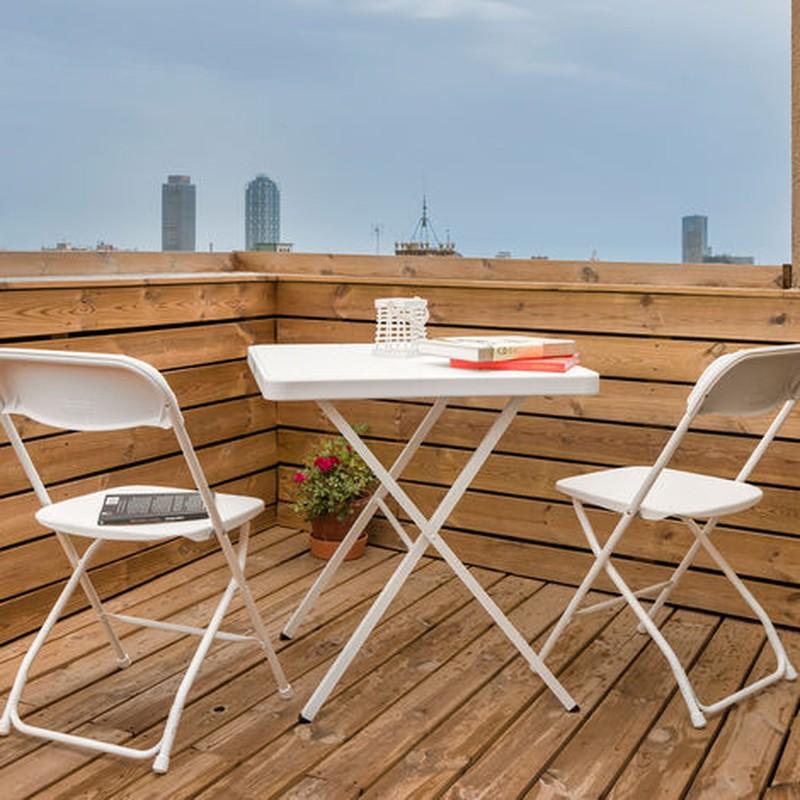 Set De Jardin Pliant 1 Table 2 Chaises Bonaire Gardiun Resine Et Acier Blanc Poolfunstore